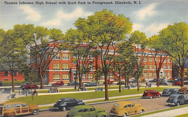 Thomas Jefferson High School Elizabeth, New Jersey Postcard