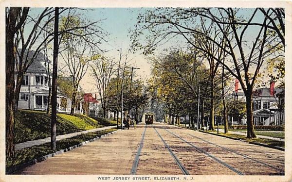 West Jersey Street Elizabeth, New Jersey Postcard