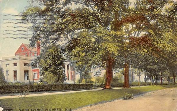 Salem Avenue Elizabeth, New Jersey Postcard