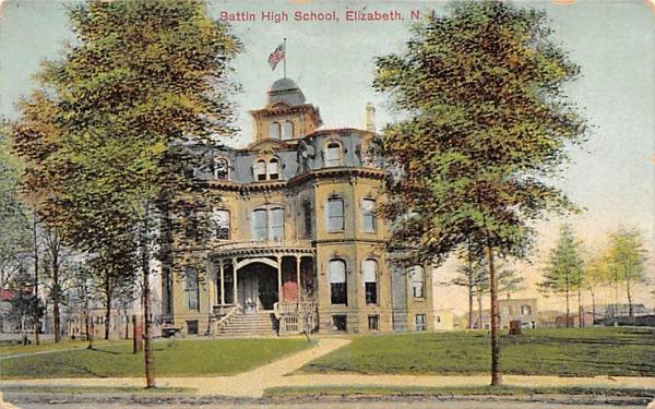 Battin High School Elizabeth, New Jersey Postcard