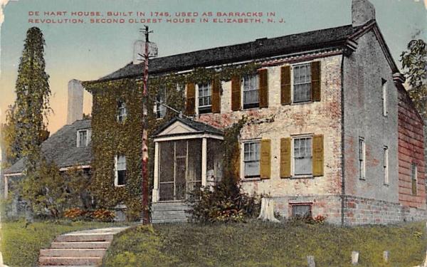 De Hart House, Second Oldest House Elizabeth, New Jersey Postcard