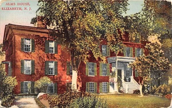 Alms House Elizabeth, New Jersey Postcard