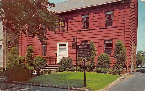 Boxwood Hall Elizabeth, New Jersey Postcard