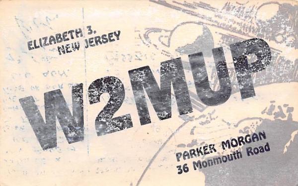 W2MUP Elizabeth, New Jersey Postcard