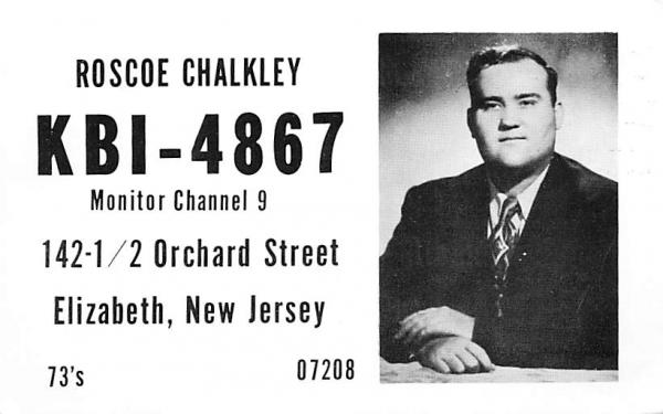 KBI - 4867 Elizabeth, New Jersey Postcard