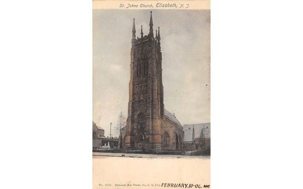St. Johns Church Elizabeth, New Jersey Postcard