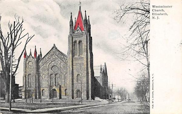 Westminster Church Elizabeth, New Jersey Postcard