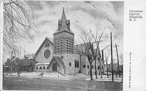 Greystone Church Elizabeth, New Jersey Postcard