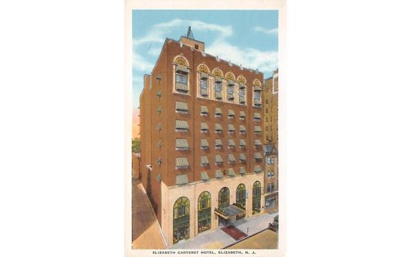 Elizabeth Carteret Hotel New Jersey Postcard