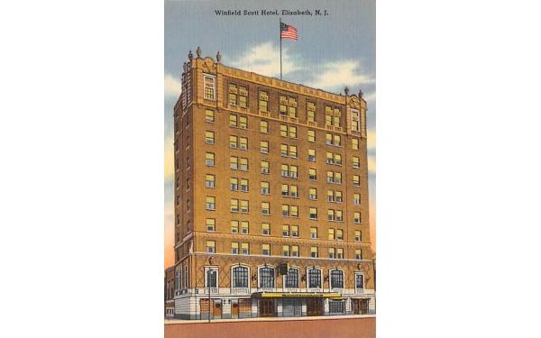 Winfield Scott Hotel Elizabeth, New Jersey Postcard