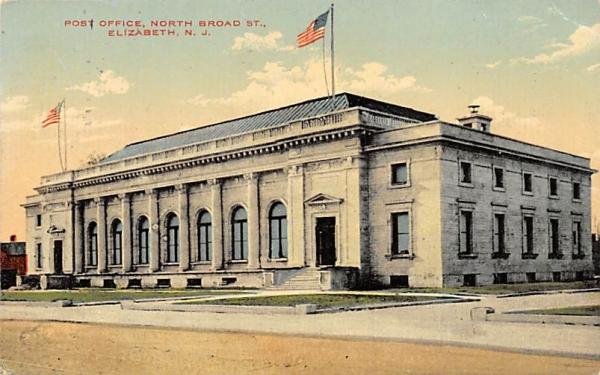 Post Office Elizabeth, New Jersey Postcard
