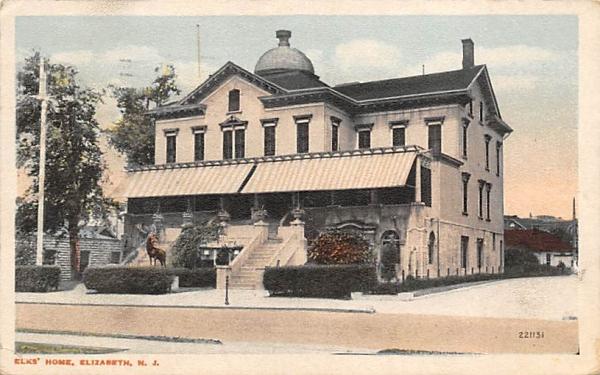 Elks' Home Elizabeth, New Jersey Postcard