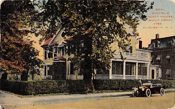 Genl. Winfield Scott House Elizabeth, New Jersey Postcard