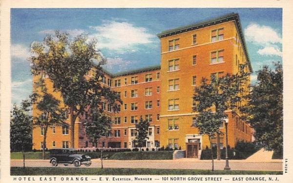 Hotel East Orange New Jersey Postcard
