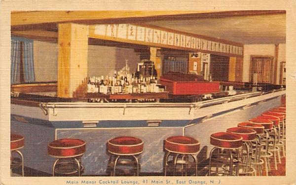 Main Manor Cocktail Lounge East Orange, New Jersey Postcard