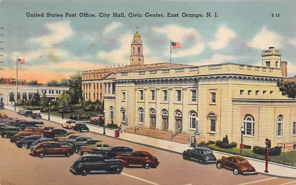United States Post Office, City Hall, Civic Center East Orange, New Jersey Postcard