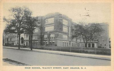 High School East Orange, New Jersey Postcard