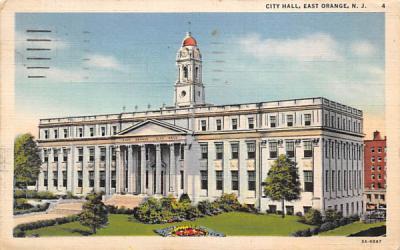 City Hall East Orange, New Jersey Postcard
