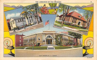 The Libraries of the Oranges East Orange, New Jersey Postcard