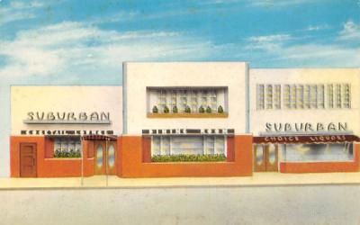 Suburban Cocktail Lounge and Dining Room East Orange, New Jersey Postcard