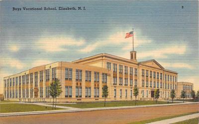 Boys Vocational School Elizabeth, New Jersey Postcard
