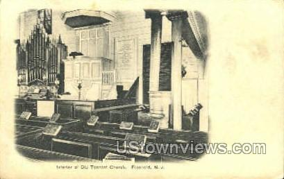 Interior Of Old Tenant Church  - Freehold, New Jersey NJ Postcard