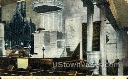 Interior Of The Old Tenant Church  - Freehold, New Jersey NJ Postcard