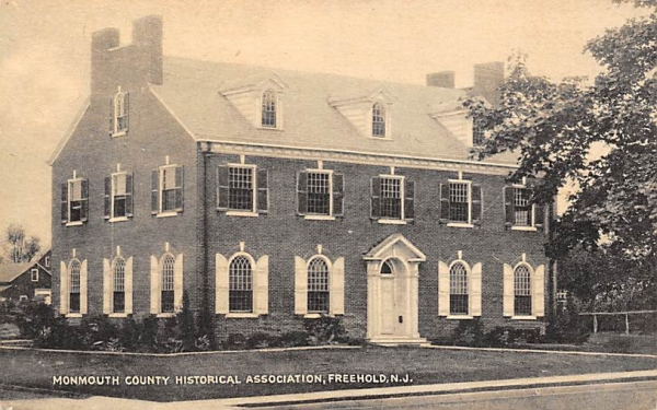 Monmouth County Historical, Association Freehold, New Jersey Postcard