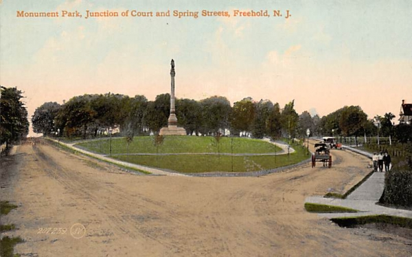 Monument Park Freehold, New Jersey Postcard