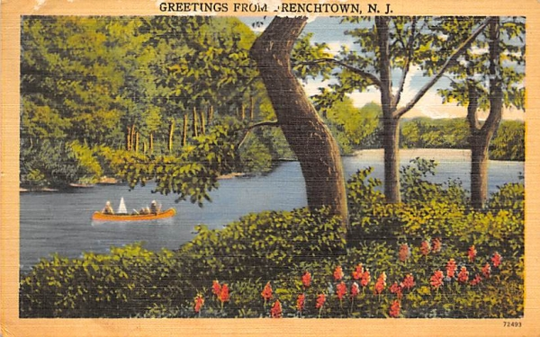 Greetings from Frenchtown New Jersey Postcard