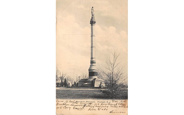 Monmouth Monument Freehold, New Jersey Postcard