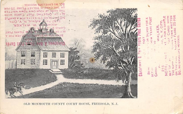 Old Monmout County Court House Freehold, New Jersey Postcard