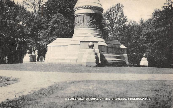 A Close View of Some of the Bronzes Freehold, New Jersey Postcard