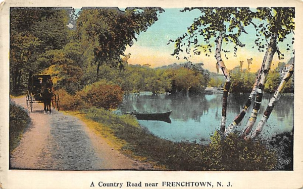 A Country Road near Frenchtown New Jersey Postcard