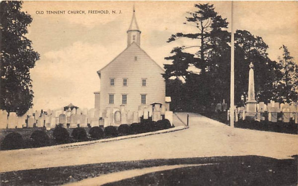 Old Tennet Church Freehold, New Jersey Postcard