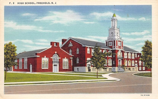 High School Freehold, New Jersey Postcard