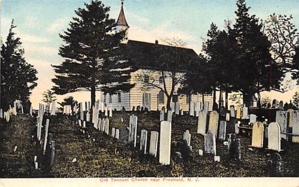Old Tennant Church near Freehold, NJ Cemetery New Jersey Postcard
