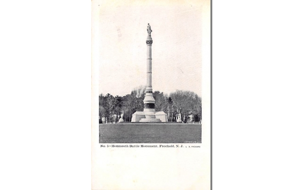 Monmouth Battle Monument Freehold, New Jersey Postcard