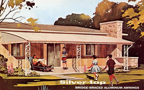 Silver-top Aluminum Awnings Advertising Freehold, New Jersey Postcard