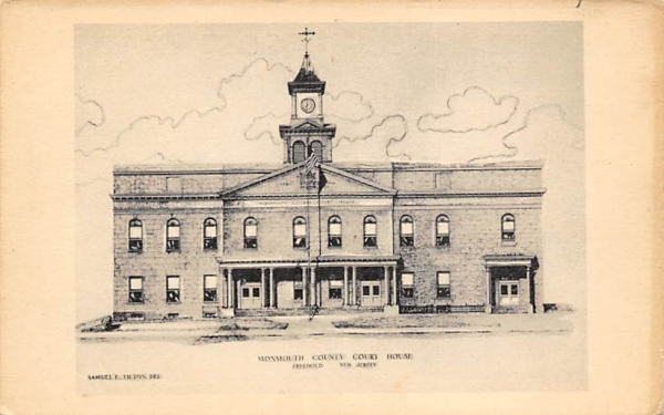 Monmouth County Court House Freehold, New Jersey Postcard