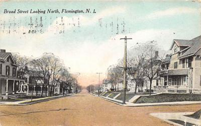 Broad Street, Looking North Flemington, New Jersey Postcard