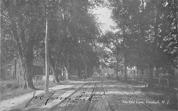 The Old Lane Grenloch, New Jersey Postcard