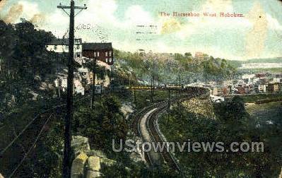 The Horseshoe - Hoboken, New Jersey NJ Postcard
