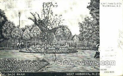 Palisade Park - Hoboken, New Jersey NJ Postcard