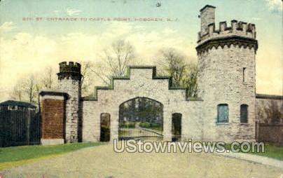 6Th St Entrance To Castle Point  - Hoboken, New Jersey NJ Postcard