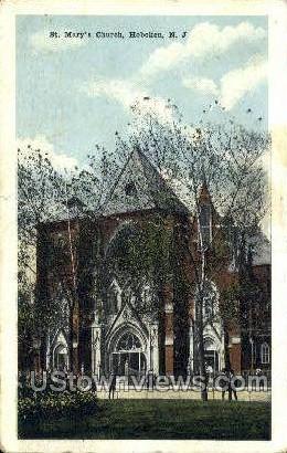 St Marys Church  - Hoboken, New Jersey NJ Postcard