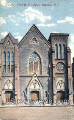 First M E Church  - Hoboken, New Jersey NJ Postcard
