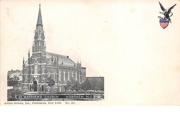 St. Matthen's Church Hoboken, New Jersey Postcard