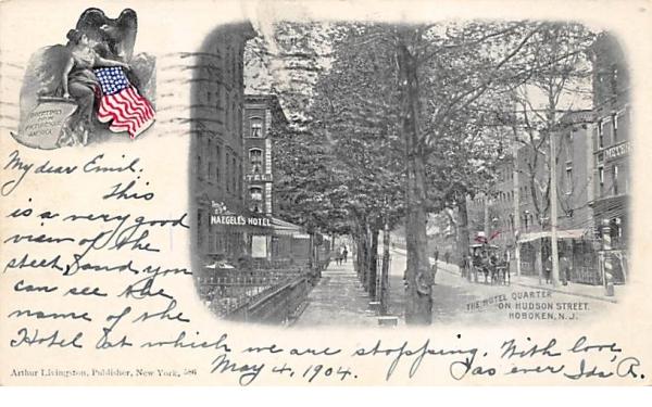 The Hotel Quarter on Hudson Street Hoboken, New Jersey Postcard