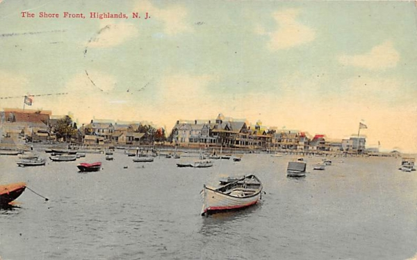 The Shore Front Highlands, New Jersey Postcard